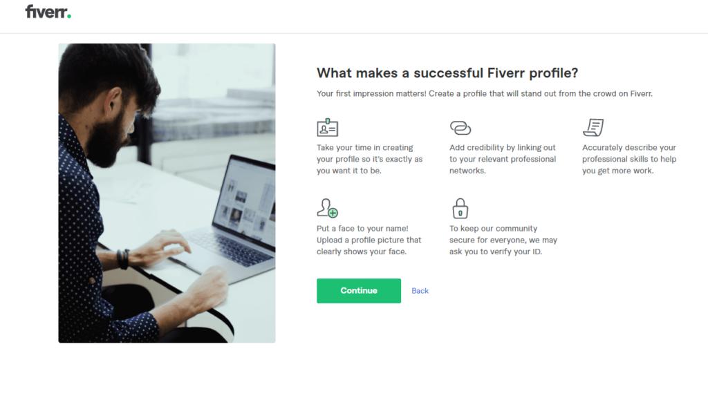 fiverr регистрация что нужно заполнить